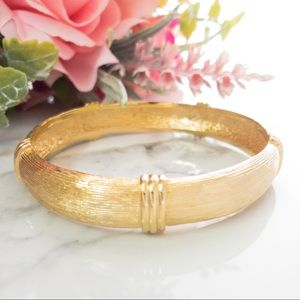 Vintage Christian Dior Gold Plated Bangle Bracelet